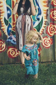 cotton embroidered dress / bluebird blog