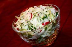 CabbageRadishSaladFinal Eastern European Recipes, Radish Salad, Russian Recipes, Coleslaw, International Recipes, Along The Way, Side Dishes, Cabbage, Good Food