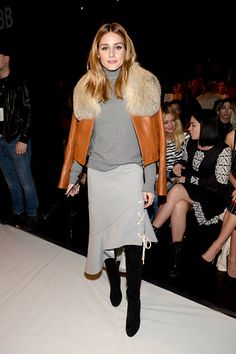 Socialite Olivia Palermo attends the Jonathan Simkhai collection during, New York Fashion Week: The Shows at Gallery 1, Skylight Clarkson Sq on February 11, 2017