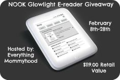 Nook Glowlight E-Reader Giveaway! | Fun With Four - ENDS 2/28!