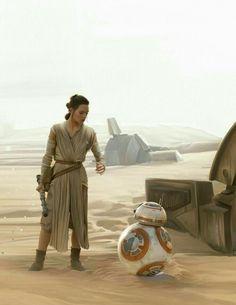 The Art of Brian Rood - Star Wars Bb8 - Ideas of Star Wars Bb8 #starwars #bb8 #starwarsbb8 - Rey & BB-8 #rey #starwars #theforceawakens