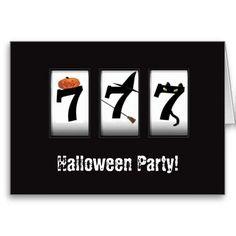 Halloween Party!  Black 777 Card