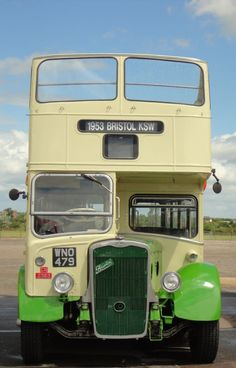 Eastern National : Bristol KSW Eastern National CN2383 (WNO 479) a 1953 open top Bristol K SW Routemaster, Old Commercials, Double Decker Bus, Vintage Packaging, Bus Coach, Busses, Commercial Vehicle, Vintage Coach, Cool Trucks