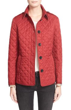 BURBERRY BRIT ASHURST CLASSIC MODERN QUILTED JACKET, CANVAS ... : burberry brit fairstead quilted jacket - Adamdwight.com