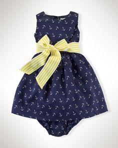 Anchor Dress - Baby Girl Dresses & Skirts - RalphLauren.com   Soo cutee !