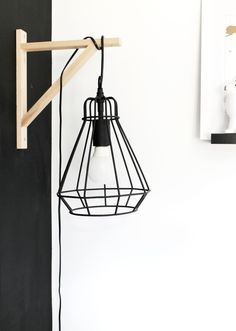 Trendy decoration for back to school: 44 ideas for its interior decor Rustic Lamps, Cool Lamps, Black Lamps, My New Room, Home Staging, Home And Living, Living Room, Interior Decorating, Sweet Home