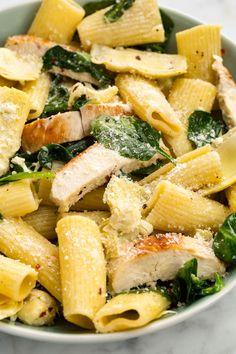 Chicken, Spinach, and Artichoke Rigatoni