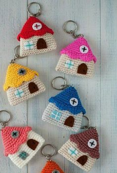 Crochet Keychain Pattern Amigurumi Key Chains 34 New Ideas Crochet Gifts, Crochet Toys, Diy Crochet, Crochet Keychain Pattern, Knitting Patterns, Crochet Patterns, Crochet Ideas, Diy Keychain, Knitting Accessories