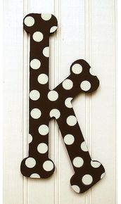 polka dot letter k Door Letters, Monogram Letters, Polka Dot Letters, Polka Dots, Alpha Letter, Connect The Dots, Large Letters, Alphabet, Give It To Me