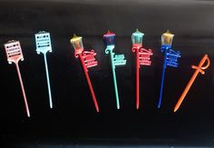 7 x 1950s Cocktail Stirrers or Hors D'oeuvres Picks Vintage Britsh Pub Signs on Etsy, £6.00