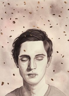 ☆ Gold .: Watercolor and Gold Leaf on Paper :. Illustration Artist Henrietta Harris ☆