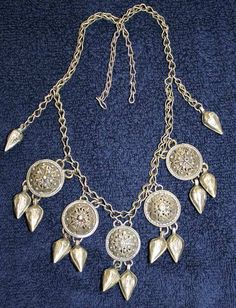 Silver necklace.  From an Armenian workshop in the Caucasus, early 20th century.