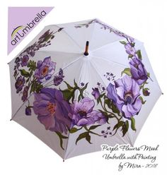 I love painting, applied art, graphic design and prinmaking. I paint my umbrellas since 2012 Year. Cute Umbrellas, Umbrellas Parasols, Fancy Umbrella, Gond Painting, Women Accessories, Fashion Accessories, All Things Purple, April Showers, Art Gallery