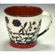 Cup With Flower Profile, Day and Night.. $60.00, via Etsy.