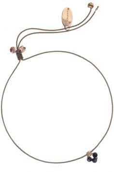 armband textil khaki by johanne rose vergoldet drei mini edelsteine lapis