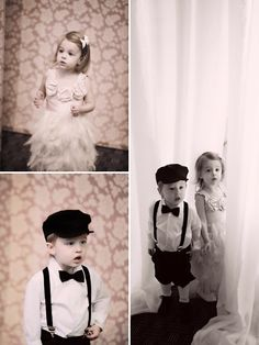 Super cute look for the kiddos, would totally tie in with my vintage spin.