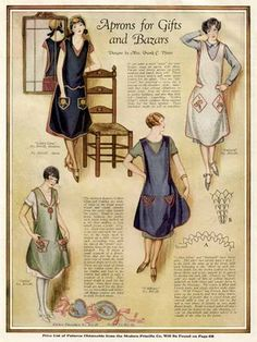 Apron gift ideas from Ladies Home Journal, 1926