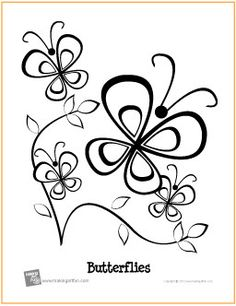 Butterflies | Free Printable Coloring Page