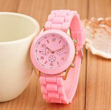 12 colors Fashion Brand Women Dress Casual Geneva Watch Women sport Quartz Watch Silicone Watches Relogio feminino reloj hombre(China)