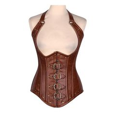 Armory Apprentice Underbust Corset Vest - Brown Armory Apprentice Underbust Corset Vest - Brown This item is made of Premium. Steampunk Clothing, Steampunk Fashion, Doc Martens, Best Corset, Corset Outfit, Corset Dresses, Prom Dresses, Leather Corset, Leather Armor