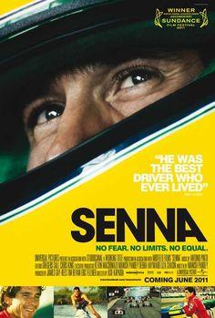 Póster de la película documetal SENNA, una pasada. Que además se comentó en filmfilicos el blog de cine http://filmfilicos.com/senna-pelicula