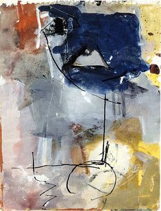 leslieavonmiller: Richard Diebenkorn - Untitled #8, From Sketchbook, ca. 1950 (by Jan Lombardi)