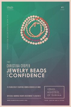 It's just stuff. Until you don't have it. Introducing the Christina Cooper Jewelry Beads of Confidence. Support Urban Ministries of Durham. #namesforchange