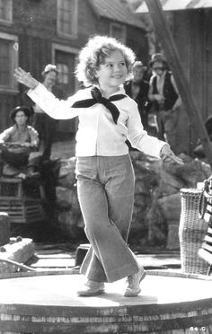 Shirley Temple in Captain January, 1936. Now dancing down the streets of gold.