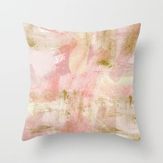 Buy Rustic Gold and Pink Abstract Throw Pillow by lisaguenraymond. Worldwide shipping available at Society6.com. Just one of millions of high quality products available.