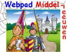 Webpad middeleeuwen waar de leerlingen zelf informatie a.d.h.v. een werkblad kunnen zoeken op een site. Ze lezen daarvoor teksten, bekijken afbeeldingen en filmpjes.