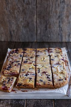 Rhubarb and berry custard bars by Juls1981, via Flickr