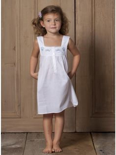 ded6583ccd35 Seaside Dress - Girls White English Cotton Dress with seashell embroidery