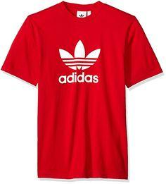 a959e099 adidas Originals Men's Trefoil Tee, Scarlet, M Adidas Originals, Hooded  Sweatshirts, Hoodies