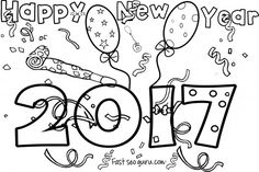 2016 new years eve coloring pages ~ 14 Best Dot Marker Printables images in 2019 | Day Care ...
