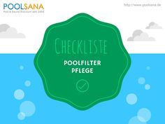 Checkliste: Pool-Filteranlage richtig pflegen und warten. Jetzt runterladen! #pool #filter #pflege