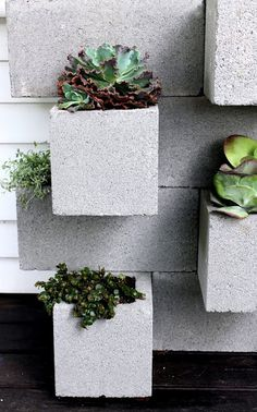 cinderblock planter/bar - brilliant elevation of an ugly material