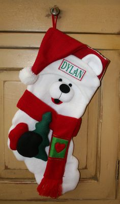 Adorable Personalized Christmas Stockings by TousledThread on Etsy, $24.95