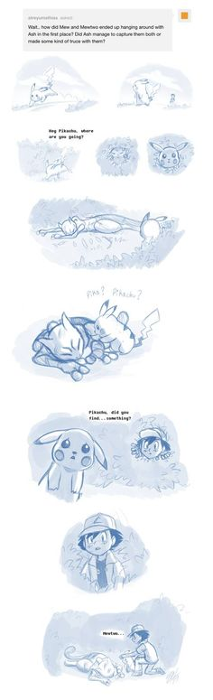 How It Started by on DeviantArt Mew And Mewtwo, Pokemon Mewtwo, Pokemon Comics, Charizard, Anime Comics, Real Pokemon, Cute Pokemon, Pokemon Stuff, Human Pikachu