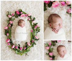 Floral wreath Chicago Newborn photographer