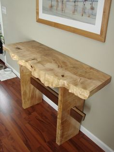 Natural Edge Wood Slab Console table http://www.BerkshireProducts.com