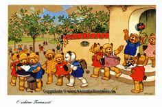Teddy Bears at School - Fritz Baumgarten