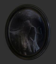 Acrylic on canvas, portrait - Title: Bonehead 29 x 24 centimeters