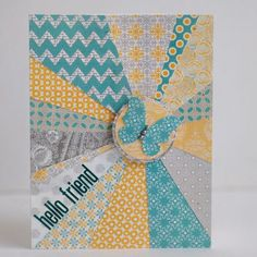 great card for using up scraps