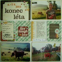 Můj papírový relax: Project life 8 - left page Project Life, Relax, Baseball Cards, Projects, Log Projects, Blue Prints