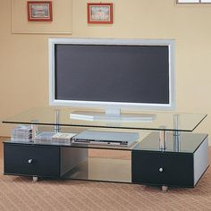 Coaster Furniture 720081 Low Height Glass TV Stand