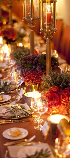 Garden of Dreams 🦋 — anbenna: Nicoline Patricia Malina Happy Thanksgiving, Thanksgiving Blessings, Thanksgiving Celebration, Centerpieces, Table Decorations, Christmas Table Settings, Fall Dinner, Elegant Christmas, Autumn Wedding