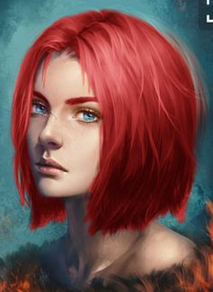 Red haired girl.  Ember - needs a harder look to her face, though  http://data.whicdn.com/images/233310766/large.jpg