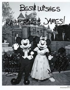 It really works! This would make a cute keepsake for a newly married or engaged couple - maybe even a cute baby shower gift. Mail your invitations to the following address:    Mickey & Minnie  The Walt Disney Company  500 South Buena Vista Street  Burbank, California 91521