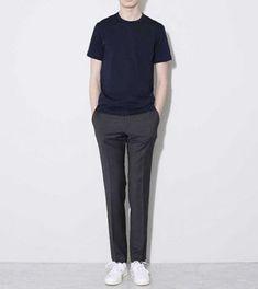 48 Elegant Man Street Style Ideas To Inspire You Korean Fashion Men, Korea Fashion, Korean Men, Minimal Outfit, Minimal Fashion, Minimal Clothing, Look Fashion, Trendy Fashion, Mens Fashion