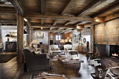 Book Chalet a la Ferme. Luxury Chalet in Megeve, France from Ski In Luxury. Features hot tub, steam room and fireplace. Chalet Design, House Design, Cabin Interiors, Rustic Interiors, Chalet Interior, Interior Design, Location Chalet, Location Saisonnière, Home Cinema Room